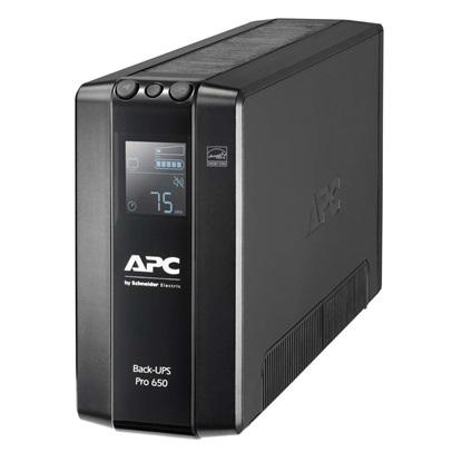 APC UPS Pro BR 650VA Back-Ups 6 Outlets, AVR, LCD Interface (BR650MI) (APCBR650MI)