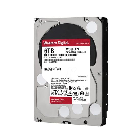 "Western Digital Red Plus NAS Hard Drive 6TB 3.5"" (CMR) (WD60EFZX)"