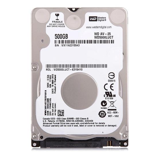 "Western Digital AV-25 SATA Hard Drive 500GB (2.5"") (WD5000LUCT)"