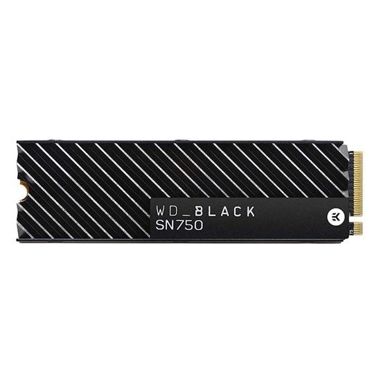 Western Digital Δίσκος SSD Black SN750 1TB M.2 With Heatsink (WDS100T3XHC)