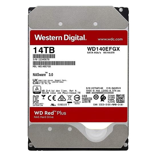 """Western Digital Red Plus NAS Hard Drive 14TB 3.5"""" (CMR) (WD140EFGX)"""