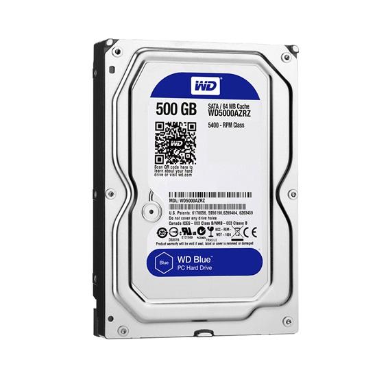 "Western Digital PC Desktop Hard Drive 500GB (Blue 3.5"") (CMR) (WD5000AZRZ)"