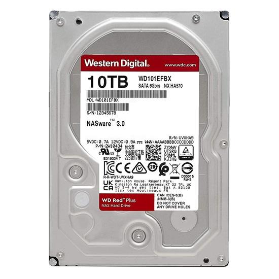 "Western Digital Red Plus NAS Hard Drive 10TB 3.5"" (CMR) (WD101EFBX)"