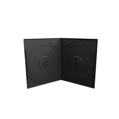 MediaRange DVD Case for 2 discs, 7mm, pocket sized, Black (MRBOX10-2)