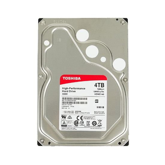 Toshiba X300 - High Performance Hard Drive 3.5'' 4TB (Retail) (HDWE140EZSTA) (TOSHDWE140EZSTA)