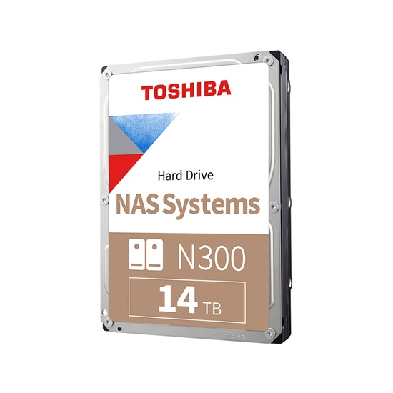 Toshiba N300 - NAS Hard Drive 3.5'' 14TB (HDWG21EUZSVA) (TOSHDWG21EUZSVA)
