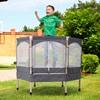 HomCom Παιδικό Τραμπολίνο με Προστατευτικό Δίχτυ 98 cm (342-010GY) (HOM342-010GY)
