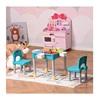 HomCom Σετ Παιδικό Τραπέζι με 2 Καρέκλες και 4 Κουτιά (312-038) (HOM312-038)