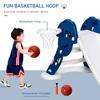 HOMCOM Slide Παιδιά 2-6 ετών με Μπάσκετ και Μπάλα Μπάσκετ για Κήπο ή Υπνοδωμάτιο (331-004BU) (HOM331-004BU)