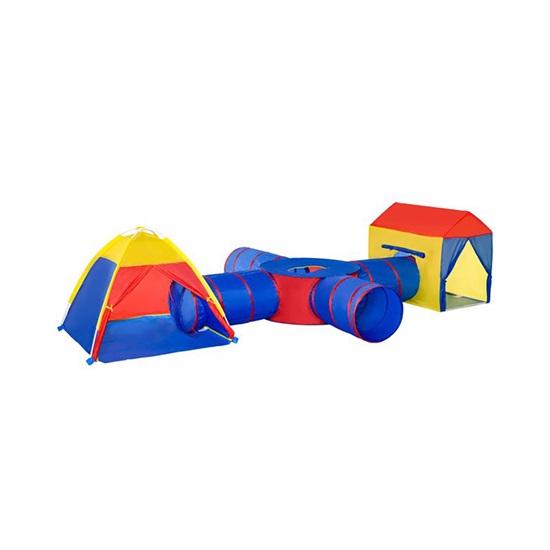 HOMCOM 6 σε 1 Παιδική σκηνή για 2-4 παιδιά με πτυσσόμενο τούνελ (345-018) (HOM345-018)