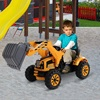 HOMCOM Παιχνίδι Electric Excavator Tractor για παιδιά Ταχύτητα: 2,5KM / h (370-010) (HOM370-010)