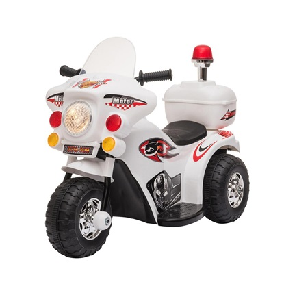 Homcom Scooter για παιδιά 18-36 μηνών με 3 τροχούς ρεαλιστικά φώτα και ήχους λευκό (370-109V90WT) (HOM370-109V90WT)