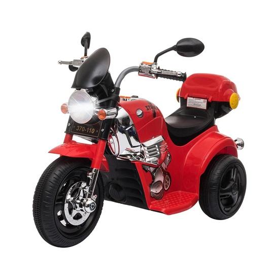 Homcom Ηλεκτρική μοτοσικλέτα για παιδιά 3-6 ετών με φώτα, ήχους και 3 ελαστικούς τροχούς (370-110V90RD) (HOM370-110V90RD)