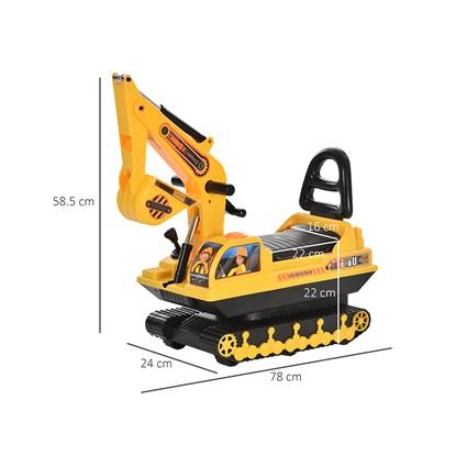 Homcom Excavator Excavator Ride-on Toy για παιδιά ως 30 κιλά (370-123) (HOM370-123)