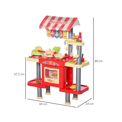HOMCOM Παιχνίδι Κουζίνας για Παιδιά 3-6 ετών 50 Αξεσουάρ (350-091) (HOM350-091)