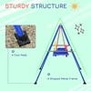 Outsunny Metal Baby Swing κούνια και παιδικό κάθισμα με ζώνη ασφαλείας (344-025) (OUT344-025)
