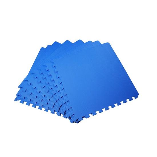 HomCom Interlocking Puzzle Mat Σετ 8 Τεμάχια 60x60cm, Μπλε  (02-0122) (HOM02-0122)