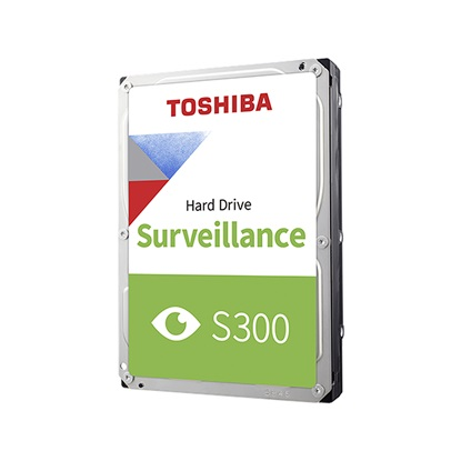 Toshiba S300 - Surveillance Hard Drive 3.5'' 1TB (CMR) (HDWV110UZSVA) (TOSHDWV110UZSVA)