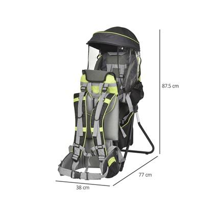Homcom Σακίδιο Μεταφοράς Παιδιού με Προστατευτικό Κάλυμμα Βροχής (430-002GN) (HOM430-002GN)