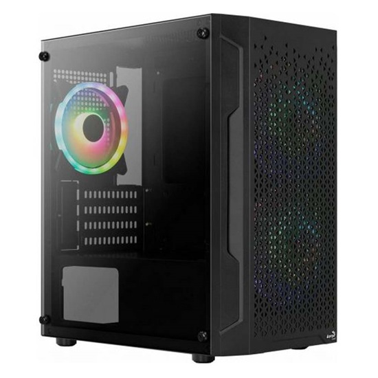 Aerocool Trinity v3 (includes: 14cm RGB fan x 2, 12cm RGB fan x 1) Mini Tower Case (ACCS-PV32133.11)