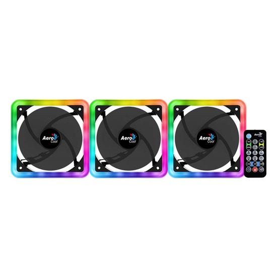 Aerocool Edge 14 Pro 14cm ARGB PC Fans x3 & H66F HUB x 1 & Remote Control (ACF4-EG10217.12)