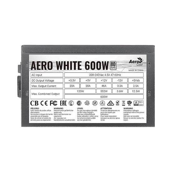 Aerocool Aero White 600W PSU (ACPW-AR60AEC.11)
