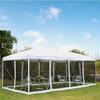Outsunny Πτυσσόμενο Κιόσκι Κήπου με Κουνουπιέρες 591 x 297 x 255 cm Μπέζ (840-012YL) (OUT840-012YL)