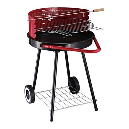 Outsunny Ψησταριά Barbecue Ρυθμιζόμενη σε ύψος με τροχούς, Μαύρο και Κόκκινο 67 x 51 x 82 cm  (01-0562) (OUT01-0562)