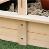 Outsunny Sandpit for Children in Wood with Sun Canopy, Παγκος και σκίαστρο 106x106x121cm Λευκό και Μπλε (343-029) (OUT343-029)