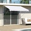 Outsunny Τέντα εξωτερικού τοίχου με στύλους στήριξης Λευκό 300x150cm  (840-183WT) (OUT840-183WT)