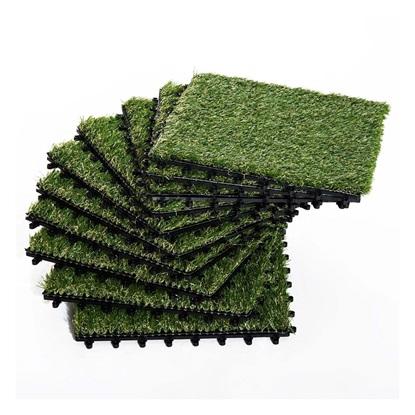 Outsunny συνθετικό γρασίδι για σετ κήπου 10τμχ 30x30cm σκούρο πράσινο (844-126) (OUT844-126)
