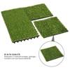 Outsunny συνθετικό γρασίδι για σετ κήπου 10τμχ 30x30cm σκούρο πράσινο (844-127) (OUT844-127)