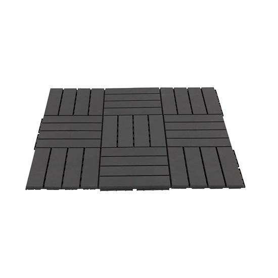 Outsunny Πλαστικά πλακάκια κήπου-μπαλκονιού Black 30x30x2cm, 0,81 m2 (844-278BK) (OUT844-278BK)