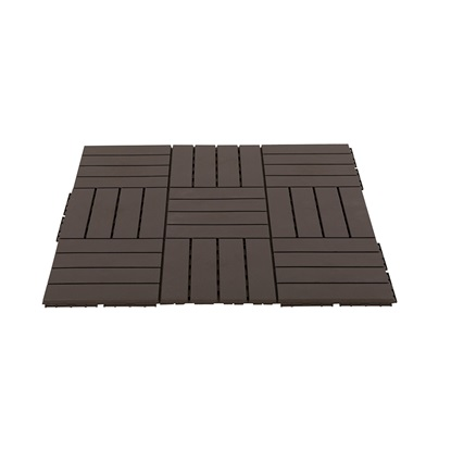 Outsunny Πλαστικά πλακάκια κήπου-μπαλκονιού Brown 30x30x2cm, 0,81 m2 (844-278BN) (OUT844-278BN)