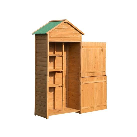 Outsunny Ξύλινη Αποθήκη Κήπου 84 x 51 x 188 cm. (845-063) (OUT845-063)