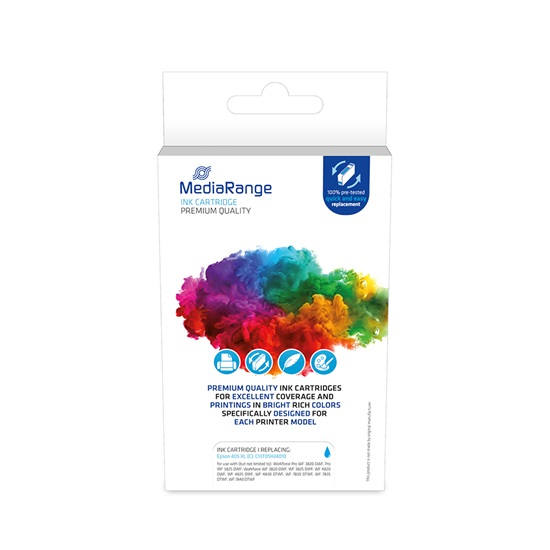 Inkjet MEDIARANGE Συμβατό για Εκτυπωτές Epson (Cyan) (T405XL) (MRET405XLC)