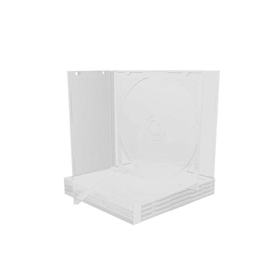 MediaRange CD Jewelcase for 2 discs 10.4mm Transparent tray (MRBOX23-T)