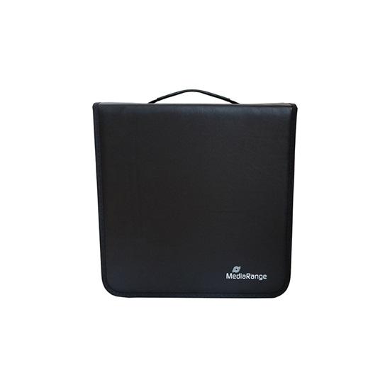 MediaRange Media storage wallet for 500 discs, synthetic leather, black (MRBOX96)
