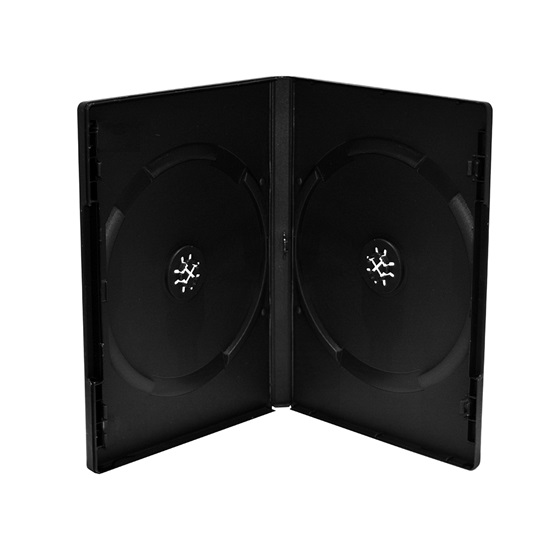 MediaRange DVD Case for 2 discs 14mm machine packing grade Black (BOX12-M)
