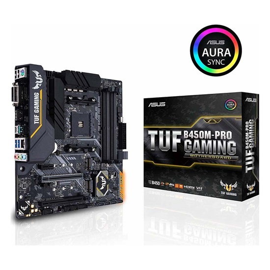 ASUS TUF B450M-PRO GAMING Motherboard micro ATX AM4 (90MB10A0-M0EAY0) (ASU90MB10A0-M0EAY0)
