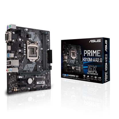 ASUS PRIME H310M-A R2.0 Motherboard micro ATX 1151 (90MB0YL0-M0ECY0) (ASU90MB0YL0-M0ECY0)