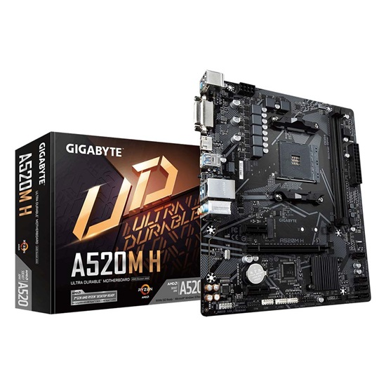 Gigabyte Motherboard AM4 A520M H (rev. 1.x) (GA-A520M-H) (GIGGA-A520M-H)