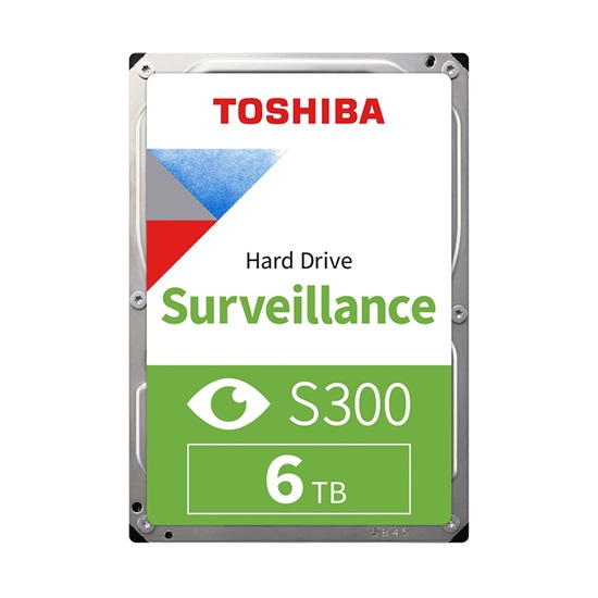 Toshiba S300 - Pro Surveillance Hard Drive 3.5'' 6TB (CMR) (HDWT360UZSVA) (TOSHDWT360UZSVA)