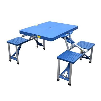 Outsunny Φορητό Πτυσσόμενο Τραπέζι Κάμπινγκ  Με 4 Καρέκλες (01-0009) (OUT01-0009)