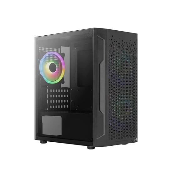 Aerocool Trinity v2 (includes: 14cm FRGB fan x 2, 12cm FRGB fan x 1) Mini Tower Case (ACCS-PV32033.11)