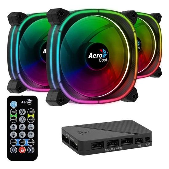Aerocool Astro 12  Pro 12cm ARGB PC Fans x3 & H66F HUB & Remote Control (ACF3-AT10217.01)