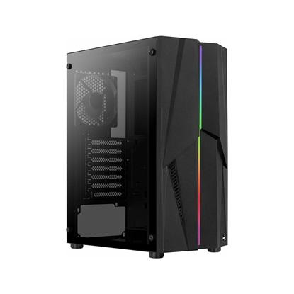 Aerocool Mecha v1 (Includes 120mm Black Fan x 1) RGB Mid Tower Black (ACCM-PV28013.11)