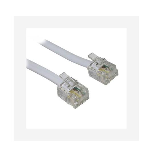Power καλώδιο τηλέφωνου πλακέ 4P4C γκρί (4P4C)