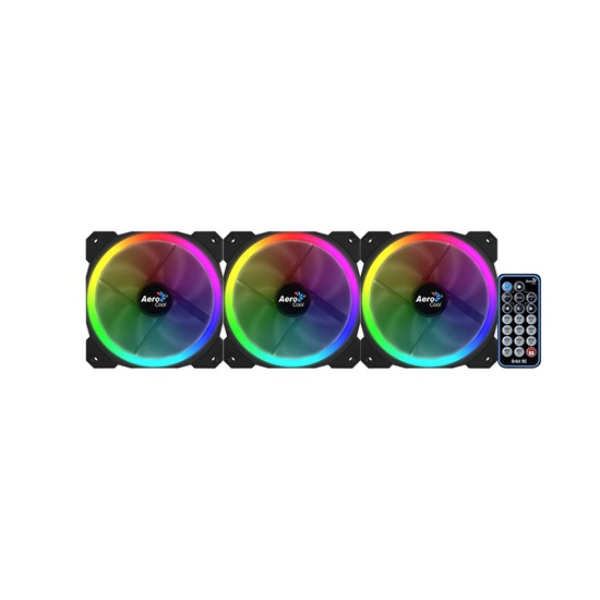 Aerocool Orbit RC 12cm RGB PC Fan x3 with remote control (ACF3-OB10227.01)