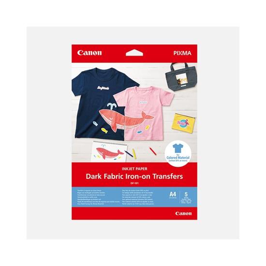 CANON Dark Fabric IRON-ON-TRANSFERS A4 (5sheets) (4006C002AA) (CANDF101A4)